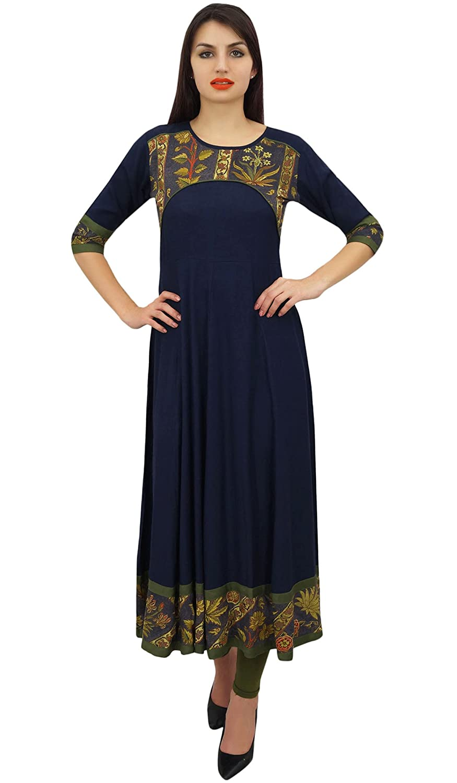 Phagun Frauen Casual Designer Rayon Kurta Ethnische Anarkali Kurti