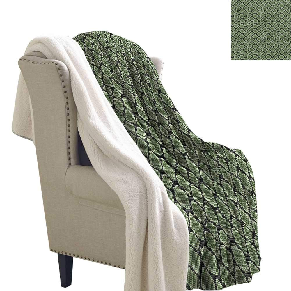 Acelik Cashmere Velvet Reptile Nature Camouflage Inspired Machine Washable and Drier Safe W59 x L78 by Acelik