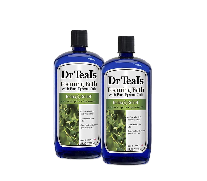 Dr. Teal's Foaming Bath, Eucalyptus Spearmint, 32 Fl Oz (Pack of 2) Dr. Teal' s Foaming Bath