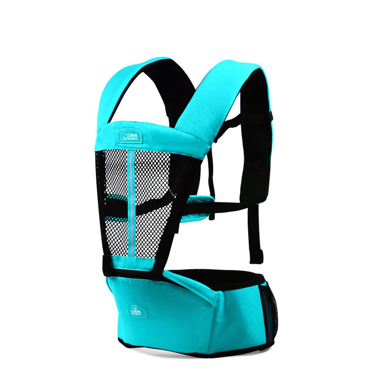 SONARIN Multifonctionnel Respirant Hipseat Baby Carrier, Porte-bé bé ,Avant et Arriè re,support en maille respirant,Ergonomique,6 positions de transport,100% Infinity garantie,cadeau ideal(Rose) Porte-bébé Avant et Arrière