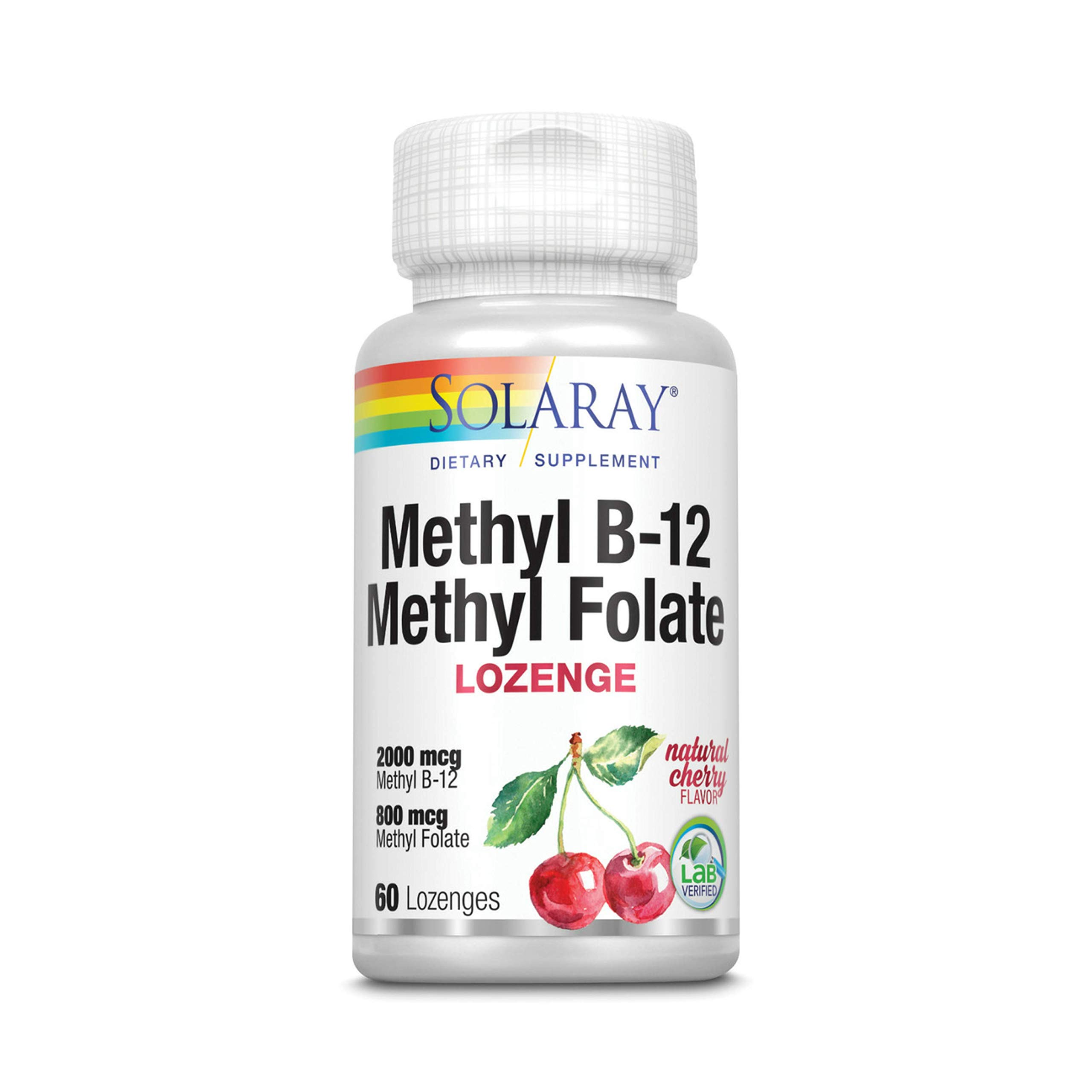 Solaray B-12 + Methyl Folate Lozenges   60 Count