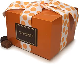 product image for AvenueSweets - Handcrafted Individually Wrapped Soft Caramels - Orange 1.5 lb Gift Box - Customize Your Flavors