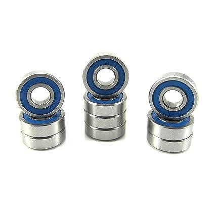 BLUE 6x10x3 mm MR106-2RS Rubber Sealed PRECISION Ball Bearing 25 PCS