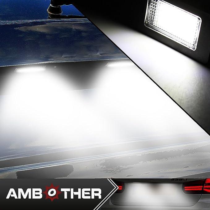 AMBOTHER 2 x LED matrícula iluminación de matrícula iluminación de matrícula Luz para E39 E60 E61 E70 E71 E90 E91 E92 E93: Amazon.es: Coche y moto