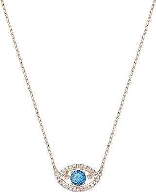 Collier Swarovski Luckily, cristal multicolore, métal doré rose, pour femme