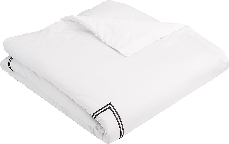 400 Thread Count 100/% Cotton Sateen Hotel Stitch Duvet Cover Set Twin XL Black