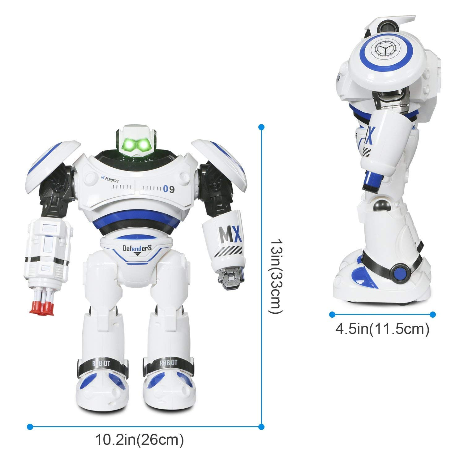 Large Robot Toy, Remote Control RC Combat Fighting Robot for Kids Birthday Present Gift, Dancing Shooting Infrared Sensing Robot for Kids Boy Girl by Toch (Image #6)