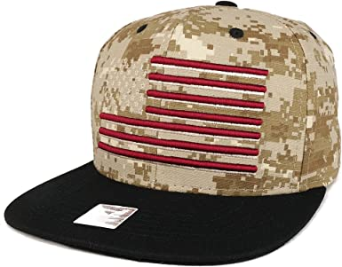 FREESHIP Youth Kid/'s American Flag Embroidered Flat Bill Snapback Trucker Cap