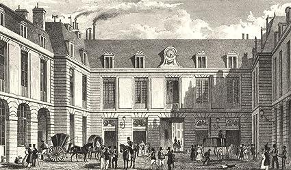 Amazon.com: paris. grand bureau de la poste 1831 old print