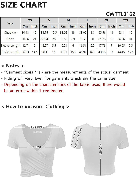 fc8fbc3915510 Amazon.com  CLOVERY Women s Long Sleeve Surplice Wrap Crop Top  Clothing