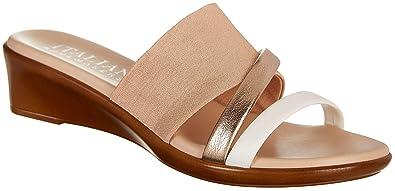 030c7d2b4 ITALIAN Shoemakers Womens Dalia Dress Sandals 5 Blush Pink Multi