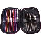 Generic 22Pcs Multicolor Aluminum Crochet Hooks Knitting Needles Set with Case-14007765MG