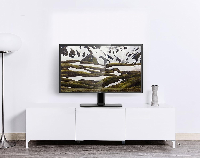 Fitueyes Meuble Tv Support T L Pied Pour Plasma Ecran De 27 Pouce  # Meuble Tv Accroche Ecran