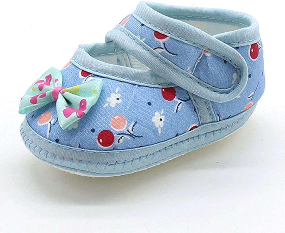 Buoyee Newborn Infant Baby Warm Shoes Bow Girls Soft Sole Prewalker Flats Shoes