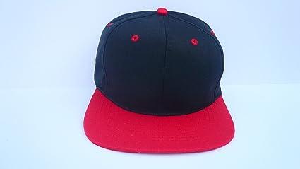 PLAIN ADJUSTABLE BASEBALL BLACK//RED BASEBALL Hat Cap