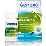 Genexa Allergy-D – 60 Tablets | Certified Organic & Non-GMO, Physician Formulated, Homeopathic | Multi-Symptom Allergy Relief Medicine