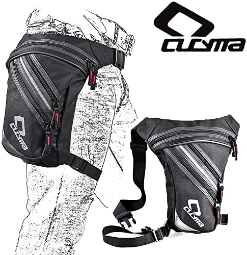 CUCYMA Motorcycle Rider Leg Bags Night Waist Bag Fanny Pack Belt Adjustable Universal