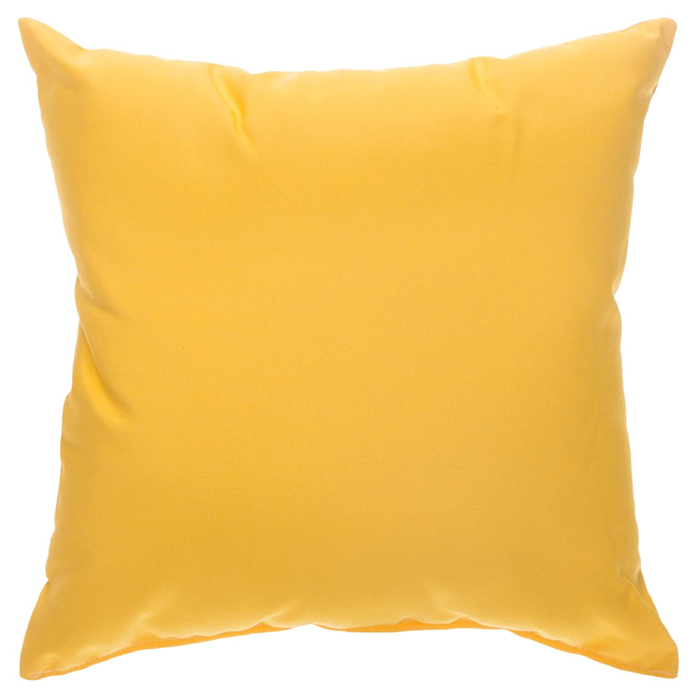 Yellow Outdoor Throw Pillows.Pawleys Island Sunbrella Outdoor Throw Pillow Sunflower Yellow 18 In X 18 In