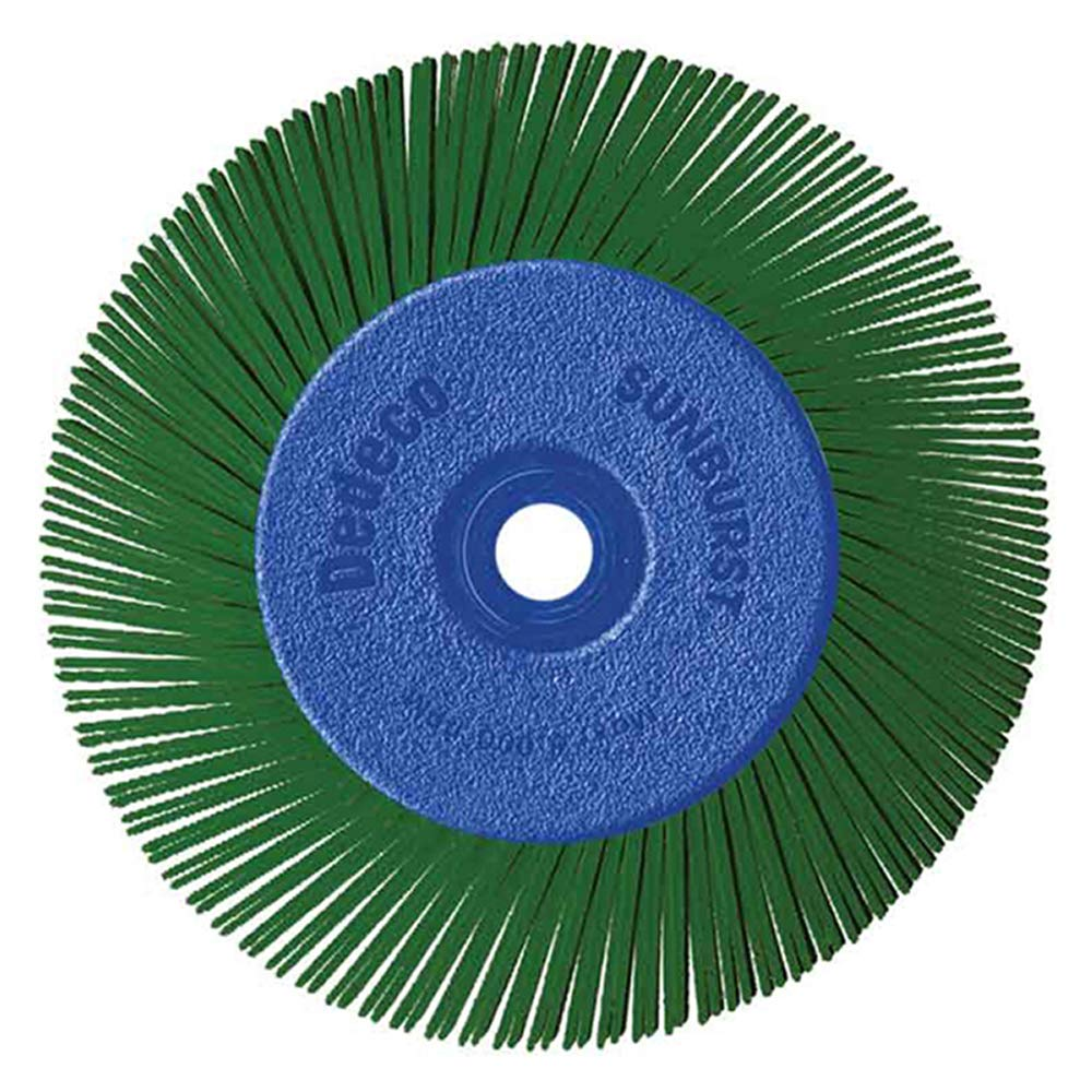 Dedeco Sunburst - 6 Inch TA Radial Bristle Discs - 1/2 Inch Arbor - Industrial Thermoplastic Rotary Cleaning and Polishing Tool, Extra-Coarse 50 Grit (1 Pack)