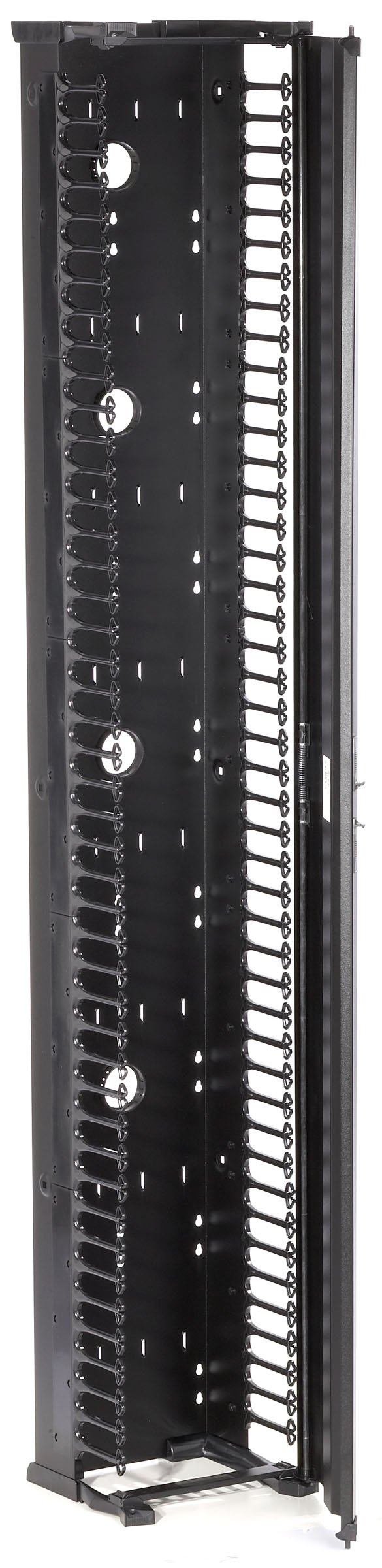 Black Box Vertical IT Rackmount Cable Manager 45Ux12''W Single-Sided Black