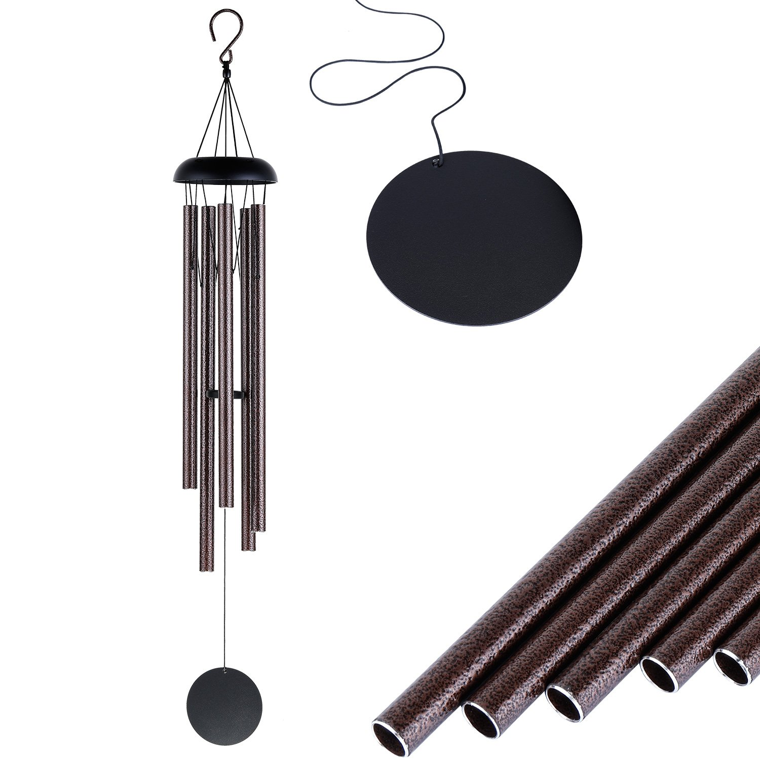 JOKOVIAN 36 inch Love Never End Wind Chimes - 5 Large Tune Outdoor Large Wind chimes Garden Patio Décor