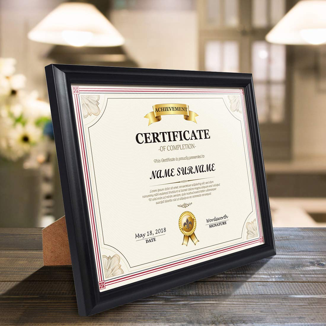 Artsay 8.5x11 Document Certificate Diploma Frame Black Picture Frames 8.5 x 11, Wall and Tabletop Display, 4 Pack by Artsay (Image #5)