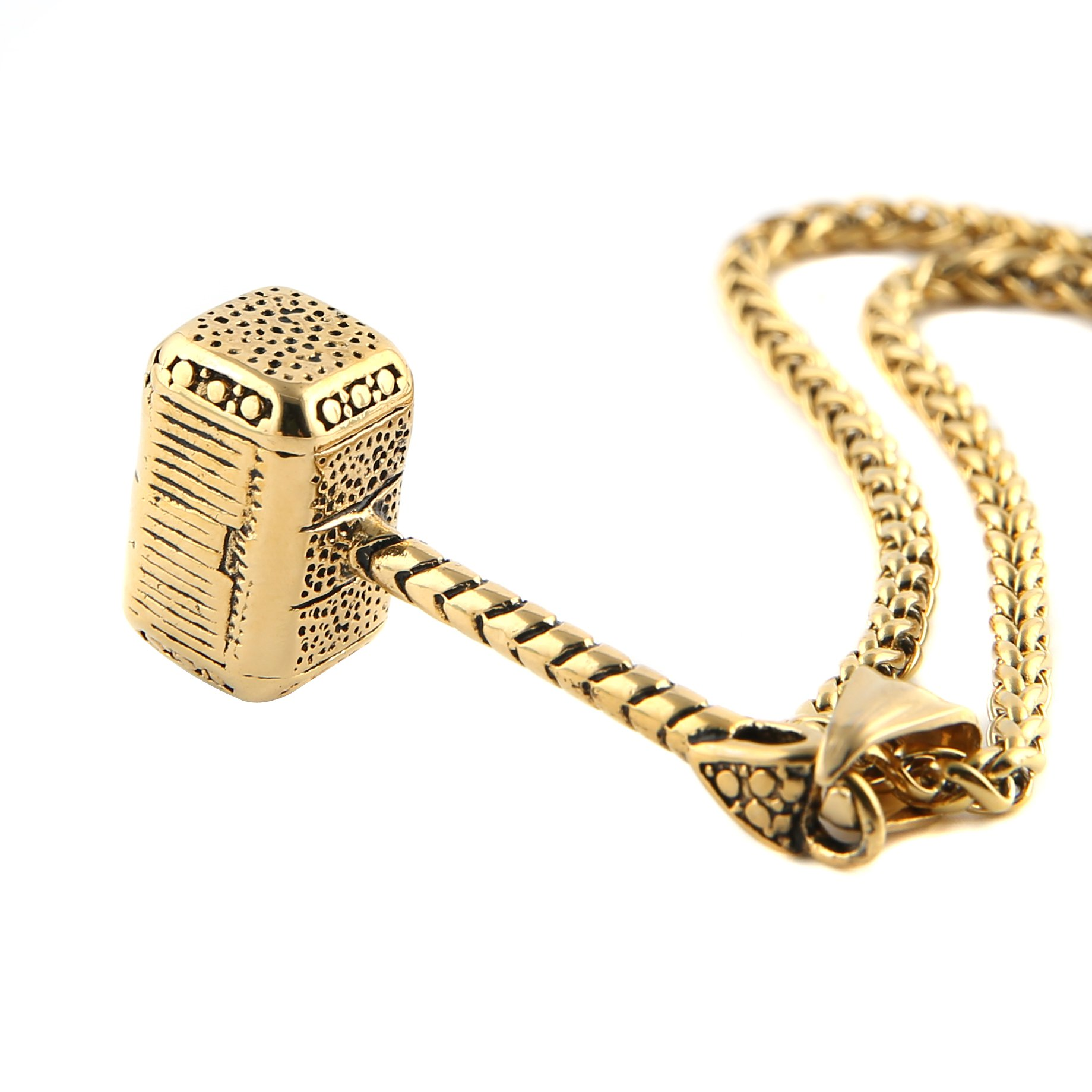 HZMAN Thor Hammer Stainless Steel Necklace For Men