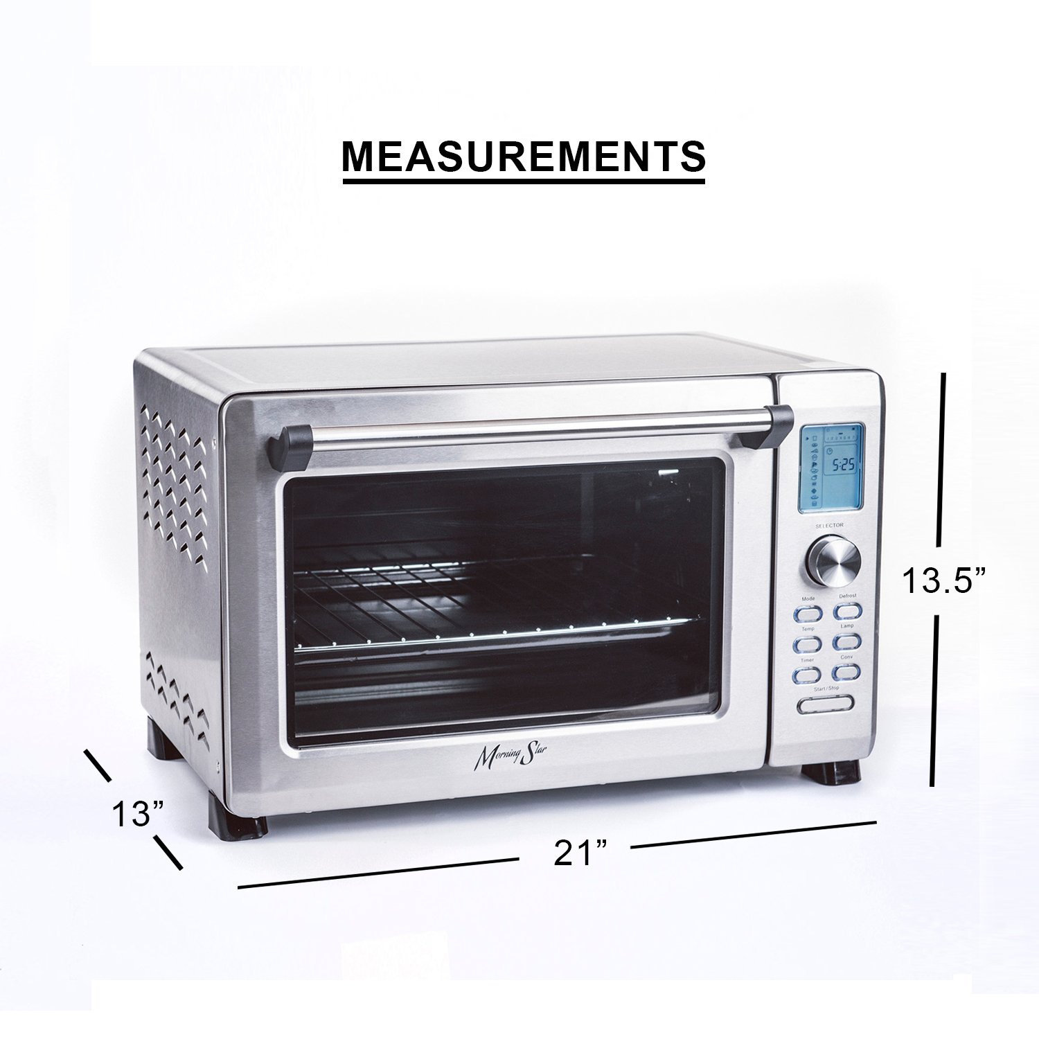amazoncom morning star  extra large  infrared (no preheat  - amazoncom morning star  extra large  infrared (no preheat needed) convection countertop digital toaster oven stainless steel xlxx