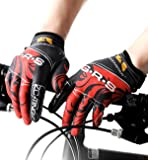 (ハイハイワールド)H-H-W 夏用 サイクリング グローブ 自転車 手袋 衝撃 吸収 GEL ゲルパッド 付き タッチパネル 対応
