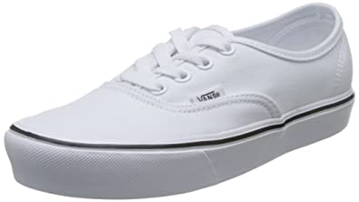 Amazon.com | Vans Unisex Authentic Lite (Canvas) True White ...