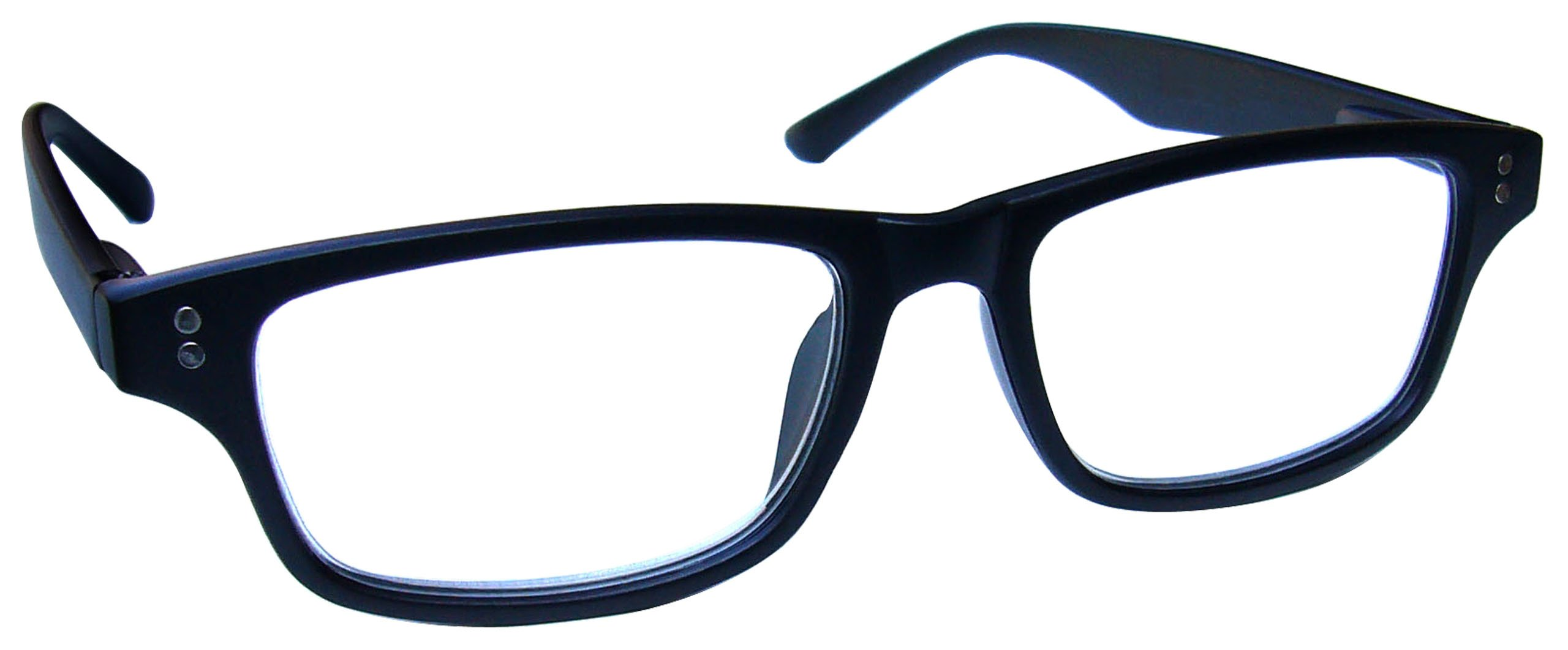 42cec443ec4 The Reading Glasses Company Black Matt Rubberized Readers Mens Womens  Spring Hinges R33-1 +