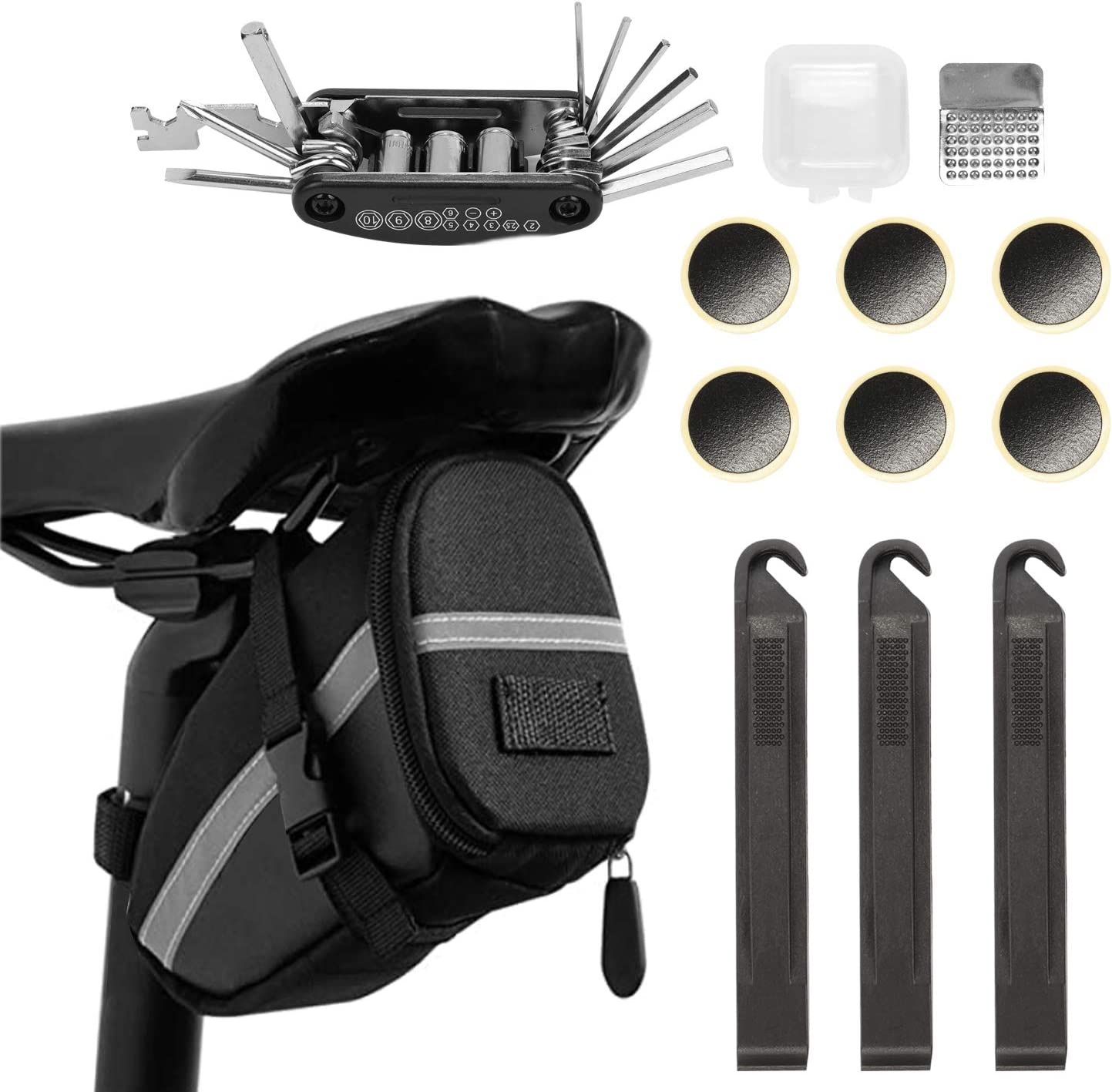 ROSWHEEL Cycling Bicycle Seat Bike Tail Rear Pouch Saddle Bag Outdoor 1.2L