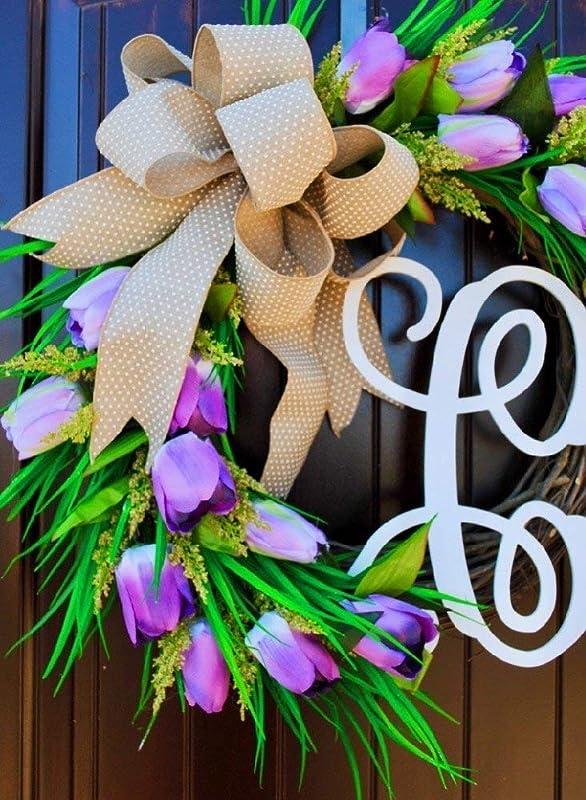 Spring Tulip and Lavender Wreath Spring Tulip DecorMini Tulip Wreath Purple Tulip Wreath Mini Tulip and Lavender Wreath Lavender Wreath