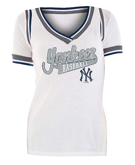 pretty nice 8f4bd 125d4 New York Yankees Women's Walk Off Cotton Mesh Jersey T-Shirt