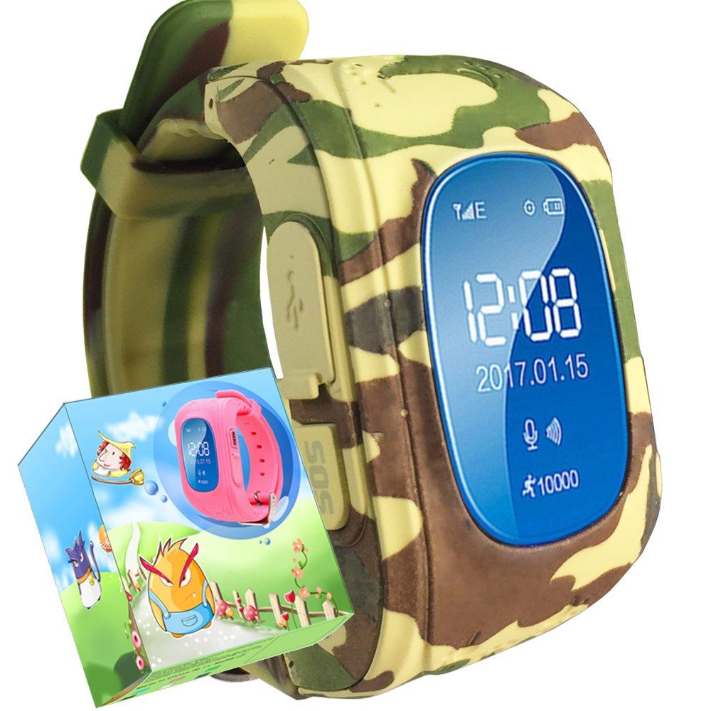 Turnmeon - Smartwatch para niños, con SIM, GPS, monitor antipérdida, SOS, chat por voz, GPRS y aplicación de control