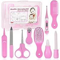Set Para Cuidado Del Bebé, RoseFlower 9 piezas kit Aseo Bebé Recien Nacido Higiene - Bebé Kit de Cuidado de Salud Seguro…