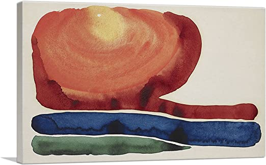 Framed Georgia O/'Keeffe Evening Star No VI Giclee Canvas Print Paintings Poster