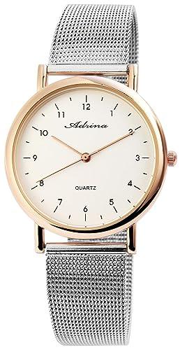 Reloj de Pulsera adrina Estilo Wellington, Casual y Refinado, Caja Slim de Mujer: Amazon.es: Relojes