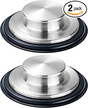 2PCS Kitchen Sink Stopper Fengbao Large Wide Rim 3.35 Diameter Stainless Steel