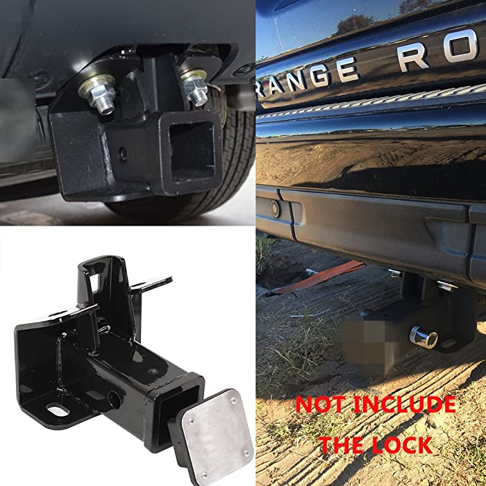 Kingcher Hitch Receiver Hitch Cover for Land Rover Discovery 3 4 LR3 LR4 Hitch Mount
