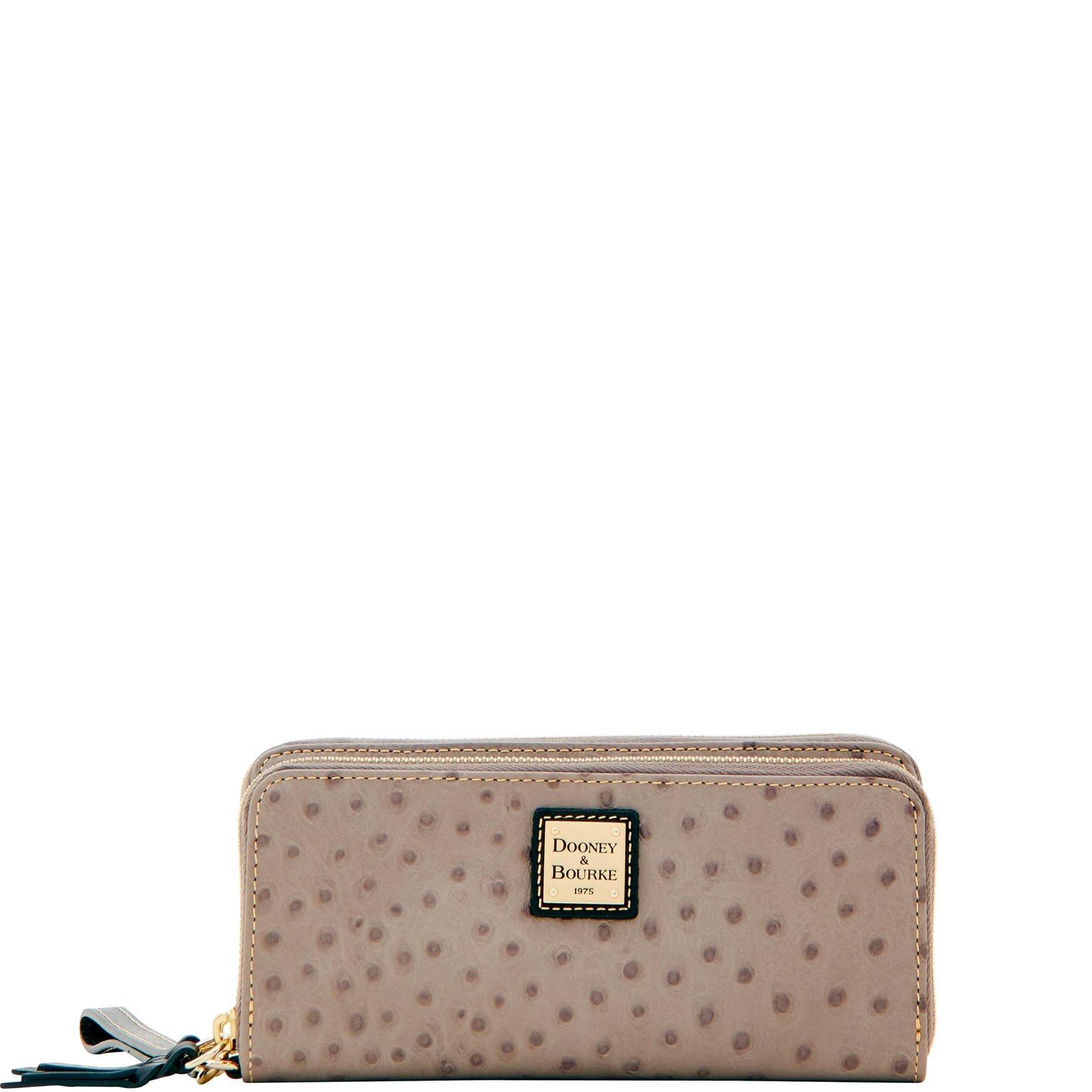 Dooney & Bourke Ostrich Double Zip Wallet by Dooney & Bourke