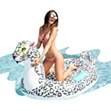 AirMyFun Inflatable Giant Leopard Float, Summer Beach Swimming Pool Party Lounge Raft Decorations Toys for Adults Kids…