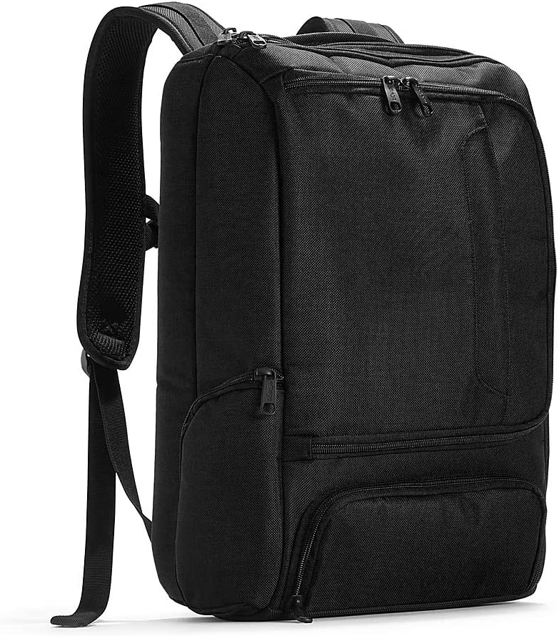 eBags Professional Slim Laptop Backpack for Travel, School Business – Fits 17 Laptop – Anti-Theft – Solid Black