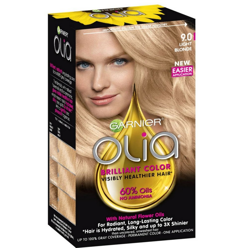 Garnier Olia Ammonia Free Hair Color [9.0] Light Blonde 1 Each (Pack of 3) by Garnier