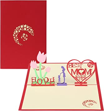 New 3D Pop Up Love Greeting Card Christmas Birthday Mother/'s Day Best Mom