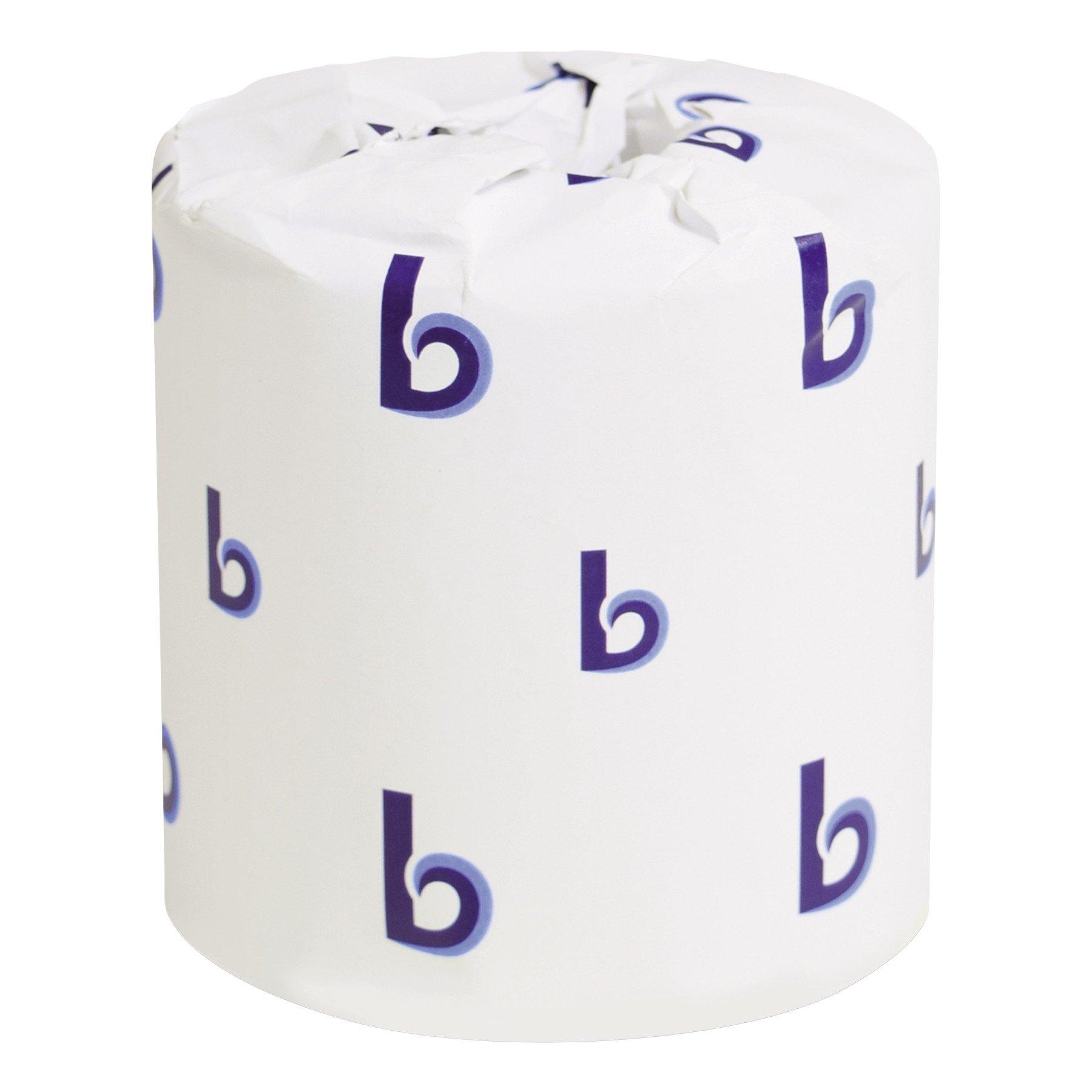 Boardwalk BWK6144 Two-Ply Toilet Tissue, White, 4'' x 3'' Sheet, 400 Sheets per Roll (Case of 96 Rolls) by Boardwalk