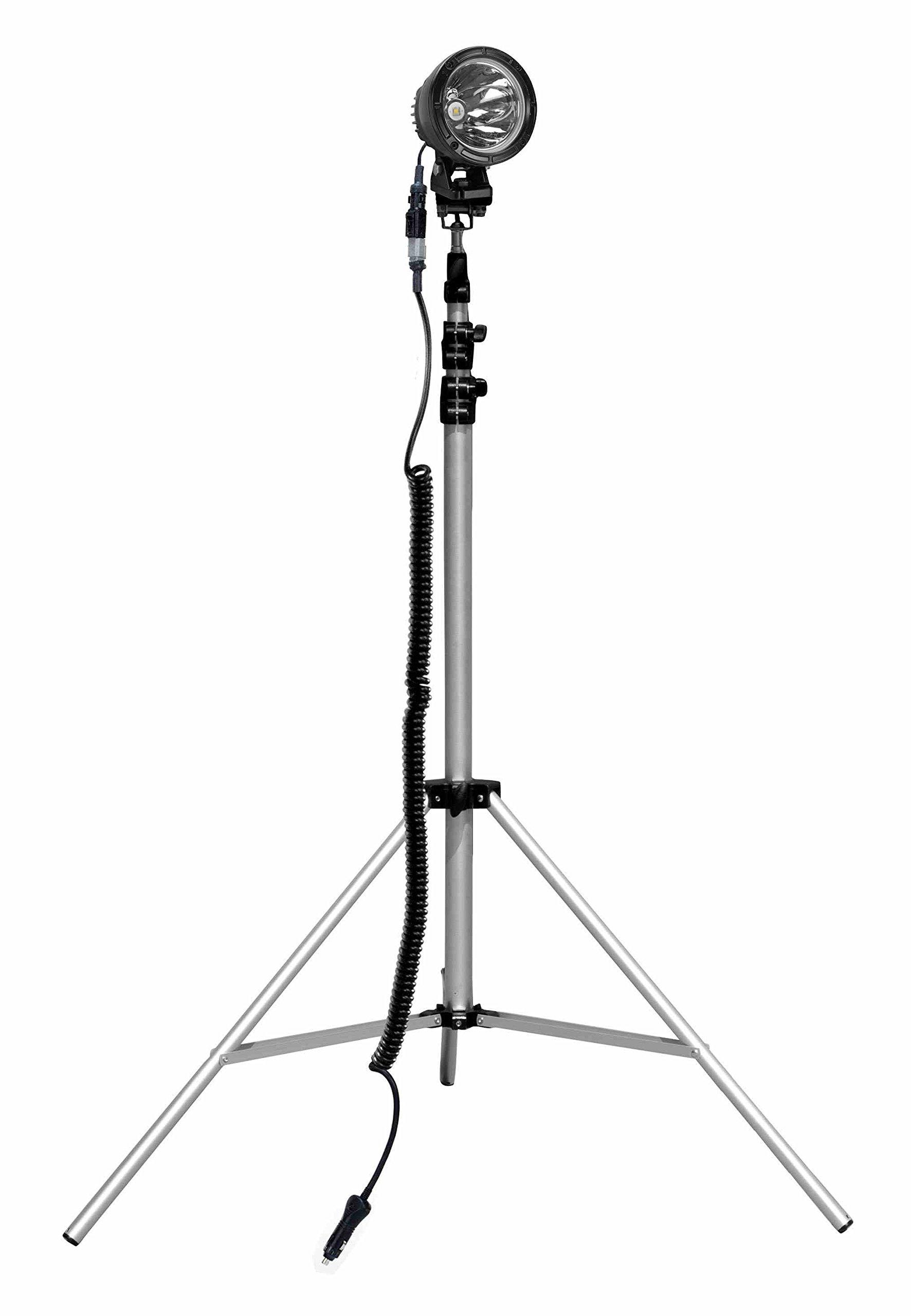 25W Dual LED Work Light w/ Adjustable Tripod Mount - 2750 Lumens - 3.5' to 10' Adjustable Height