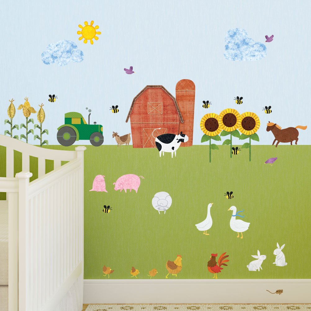 Amazon farm wall decals by my wonderful walls 38 peel amazon farm wall decals by my wonderful walls 38 peel stick farm theme stickers for baby nurseries and kids rooms home kitchen amipublicfo Gallery