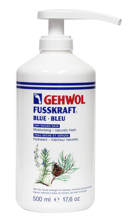 Gehwol Fusskraft Blue Crème pour les pieds 500ml Distributeur–Hydratant avec ingrédients naturels