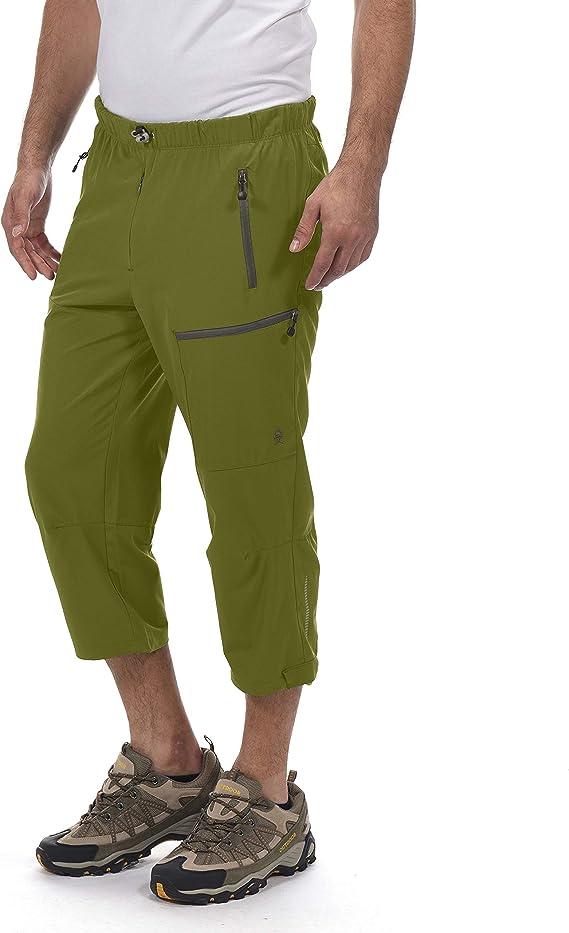 Little Donkey Andy Pantalones capri de secado rápido para hombre, pantalones cortos de 3/4, ligeros, para senderismo, viajes, casual, de viaje